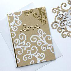 White, Kraft and Gold / Белый, крафт и золото Cardmaking, Love, Fall, Cards, Handmade, Inspiration, Amor, Autumn, Biblical Inspiration