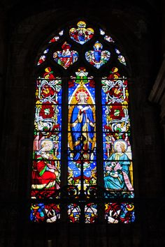 Stained glass window of Notre-Dame la Grande in Poitiers, France ~ by SafariBear on deviantART