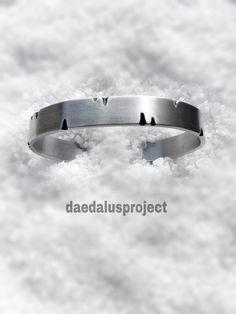 bracciale satinato inciso bracciale fatto a di daedalusproject