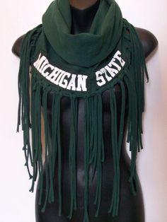 MSU scarf Infinity Michigan State University Spartans by LamaLuz, $35.00