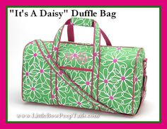 It's A Daisy Monogrammed Duffle Bag   Initials Travel by bowpeep, $29.95