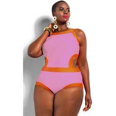 Rosy Sexy Cutout Plus Size Swimwear LAVELIQ