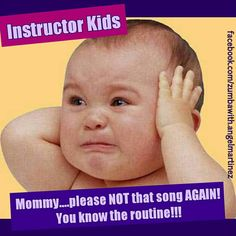 If I had kids....this would definitely be them :) Instructor kids problems, #zumba