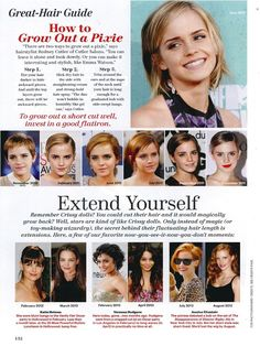 How to grow out a pixie hair cut - Allure Magazine - Emma Watson