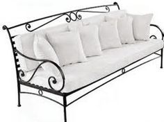 Diy Furniture Projects, Home Decor Furniture, Rustic Furniture, Furniture Design, Luxury Furniture, Iron Furniture, Steel Furniture, Wrought Iron Bench, Furniture Stores Nyc