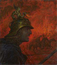 amare-habeo:Hans Thoma (German, 1839-1924 )War (Der Krieg),...
