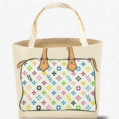 My Other Bag Zoey Classic Tote - Multi-White It's a hard, stylish life being a trendsetter, but such is your fate when you rock this chic Zoey tote. Look closely and you'll find a My Other Bag surprise in the pattern. Made in the USA. Eco-friendly, reusable, recyclable. 100% cotton canvas. Used by celebritiesPRICE FIRM UNLESS BUNDLED. My Other Bag Bags Totes