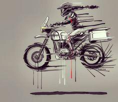 Quick commission for @ridermania @royalenfield @royalenfieldindia #hamerred Director @ironic88 . . #drawing #sketch #illustration #art #hyderabad #india #bike #motorcycle #offroad #flattracker #scrambler #motoart #bikeexif #bikerart #vintage #retro...