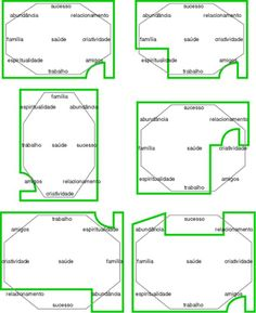 Plantas de casa e os 8 sectores