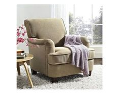 Home Club Chair Accent Stuffed Cushions Fabric Upholstery Living Room Furniture #BetterHomes #Classic