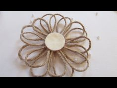 DIY Girlie Grunge Twine Flower Tutorial for Scrapbook Adhesives by 3L and Donna Salazar - YouTube