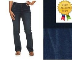 Croft Barrow Womens Bootcut Jeans Premium Mid Rise Stretch size 8 18 NEW #CroftBarrow #BootCut