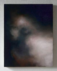 """Cloud #63  16"""" x 12"""" Oil on Wood, 2014"""