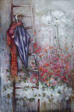 Купить Up to the rain - разноцветный, светлана аристова, картина, интерьер, Живопись, графика
