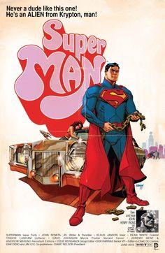 Superman #40 movie poster variant