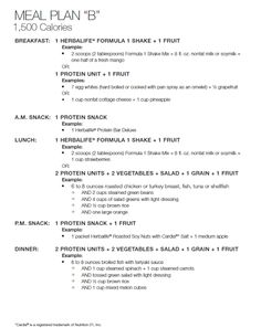 Jump Start Menu Plan from the Beginning of my Weight Loss Journey ~ Fit Club United