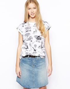 Bellfield T-Shirt With Safari Print