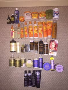 So this is every hair product & some skin products that I own. #EcoStyle #Cantu #TheManeChoice #LottaBody #SheaMoisture