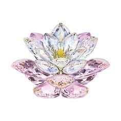 Swarovski Crystal Figurines | Ross-Simons - Swarovski Crystal Rosaline Waterlily Figurine - #314103
