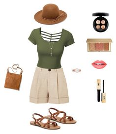"""Untitled #3"" by simonejensen-i ❤ liked on Polyvore featuring Totême, LE3NO, RHYTHM, Larsson & Jennings, House of Harlow 1960, MAC Cosmetics, Estée Lauder, Fiebiger, Merona and Steve Madden"