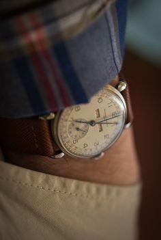 hodinkee:  @benjaminclymer's personal 1945 Vacheron triple calendar.
