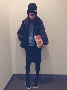 SMADDYのダウンジャケット/コートを使ったYUUKIさんのコーディネートです。│すっかり乗り遅れた「ノルディック柄」(笑...