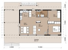 Jurmo - Pluspuu Talot Build Your Own House, Family House Plans, Granny Flat, Modular Homes, Bungalows, Floor Plans, Cabin, How To Plan, Architecture
