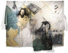 mixed media photography with transfers and found objects
