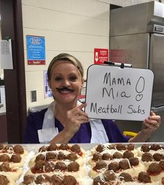 Come taste our NEW Meatball Subs in the cafeteria! Cafeteria Decor, Cafeteria Food, School Lunchroom, School Breakfast, Merchandising Ideas, Meatball Subs, National School, Lunch Room, Canteen
