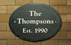 Address Plaques | The Stone Mill - Oval Design  - Customize with your name, year or house number!