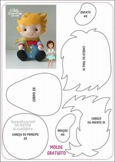 Security Check Required - Her Crochet Felt Doll Patterns, Felt Animal Patterns, Stuffed Animal Patterns, Felt Diy, Felt Crafts, Diy And Crafts, Kids Crafts, Accessoires Barbie, The Little Prince