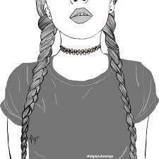 Resultado de imagen de outlines tumblr girl