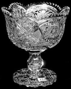 "Dorflinger, #99, American brilliant cut glass, 8.5"", 13-1,8. Antique Glassware, Antique Perfume Bottles, Crystal Glassware, Fostoria Glass, Fenton Glass, Art Vintage, Vintage Dishes, Cut Glass Vase, Glass Art"