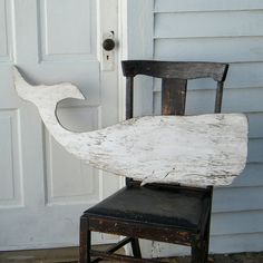 Whale White Moby Dick Supersized Whale Wood Art Sign Nautical Decor $89