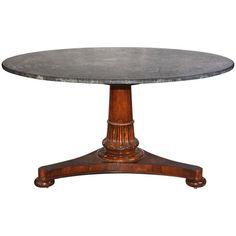 19th Century Rosewood Regency Pedestal Table 1