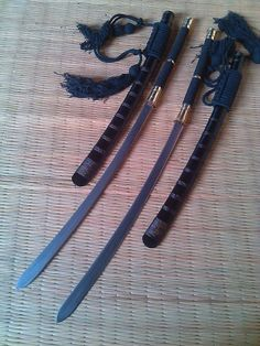 Traditional Handmade Thai Sword (Daab, Dha) - Blacksmith Made Samurai Weapons, Ninja Weapons, Sword Art Online, Online Art, Martial Arts Weapons, Hand Forged Knife, Master Sword, Brass Fittings, High Carbon Steel