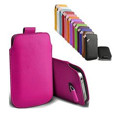 cool uFashion3C iPhone 6 Plus PU Leather Sleeve Pouch Case Cover Bag – Only for Naked iPhone 6 Plus 5.5 inch – 13 Colors (Hot Pink)