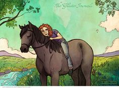 Robin and Gali from my novel Bronze by artist Katelynn Chambers