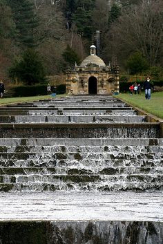 Chatsworth gardens, Derbyshire - I used to play on these in the summertime as a child