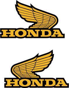 2 x Honda Wings decal sticker Motorbike Scooter Motorcycle Laptop Window Moto Logo, Bike Logo, Motorcycle Logo, Scooter Motorcycle, Honda Cb, Logo Honda, Classic Honda Motorcycles, Honda Wing, Car Symbols