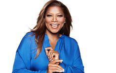 Download wallpapers Queen Latifah, American singer, rapper, portrait, smile, photoshoot, 4k