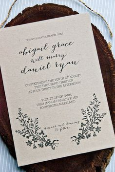 pretty and simple     HLW Signature Collection Wedding Invitation Suite  by sdstationery, $125.00