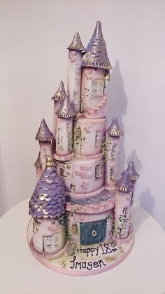 Castle Cake Cake by THE BRIGHTON CAKE COMPANY