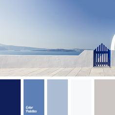 Color Palette by In Color Balance Blue Colour Palette, Colour Schemes, Color Combos, Beach Color Schemes, Coastal Color Palettes, Color Azul, Coastal Colors, Nautical Paint Colors, Colour Combinations Interior