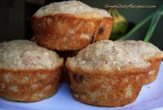 Healthy Cranberry Oat Muffins