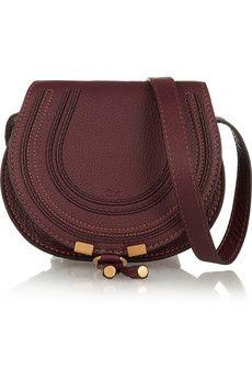 Chloé Marcie mini textured-leather shoulder bag   NET-A-PORTER
