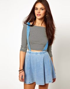 Jersey Skater Skirt With...