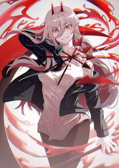 Kawaii Anime Girl, Anime Art Girl, Anime Boys, Anime Fantasy, Chica Anime Manga, Manga Girl, Anime Negra, Blood Anime, Anime Devil