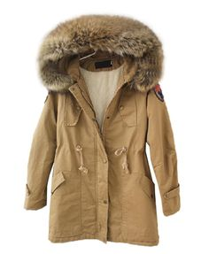Longline Hooded Coat with Shearling Lining...LOVE it