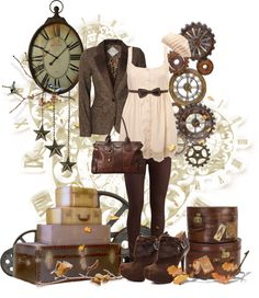 """Modern Steampunk #1"" by rorie-burke ❤ liked on Polyvore"